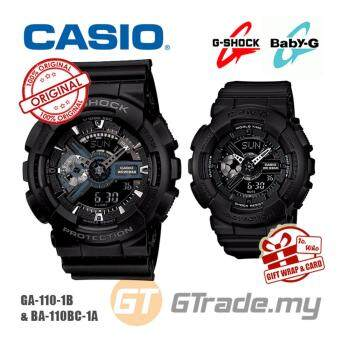 Harga CASIO G-SHOCK BABY-G GA-110-1B BA-110BC-1A Couple Watch Matt Black