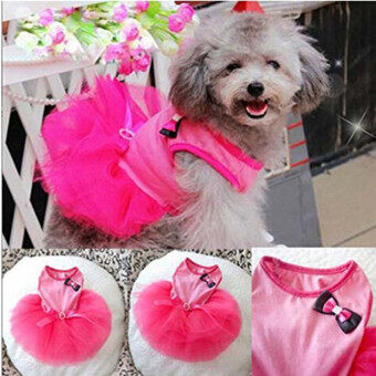 Harga HengSong Pet Dogs Puppy Butterfly Corsage Puff Tutu Dresses Costumes for Pets Dogs XS Rose Red