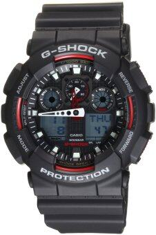 Harga Casio G-Shock GA100-1A4 Ana-digi World Time Black Dial Men's watch