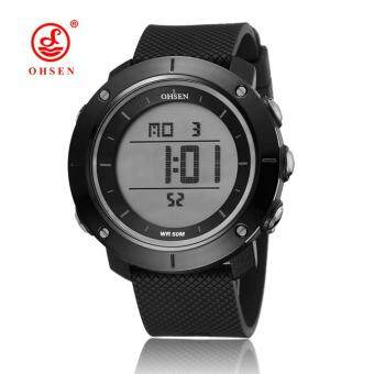Harga OHSEN Young Mens Boys Digital Time Sport Day Date Quartz Silicone Wrist Watch