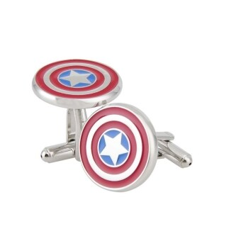 Harga 2 pcs Captain America Fashion Metal Cufflinks