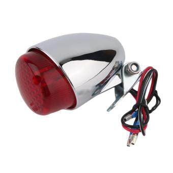 Harga UINN Motorcycle LED Brake Stop Running Tail Light Cafe For Racer Cruiser red& silver