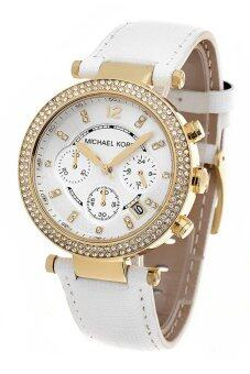 Harga Michael Kors Parker Swarovski Element Chronograph Watch (White) MK2290