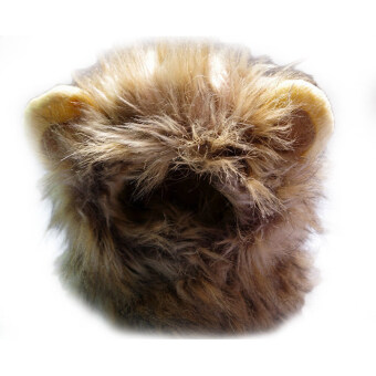 Harga new Y125 Pet cat Dog Costume Lion Mane Wig Hat for Dog Cat Halloween
