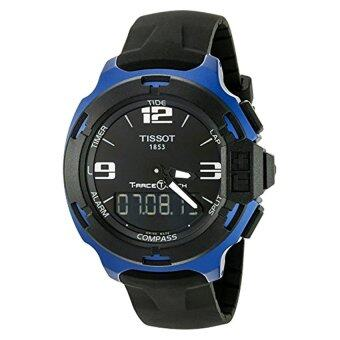 Harga Tissot Men's T0814209705700 T-Race Touch Black and Blue Analog-Digital Watch
