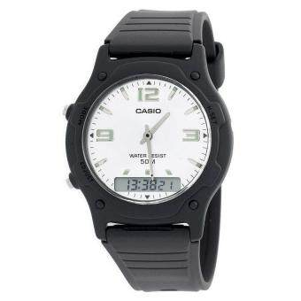 Harga Casio Men Ana-Digi Silver Dial Resin Strap Watch AW-49HE-7AVDF