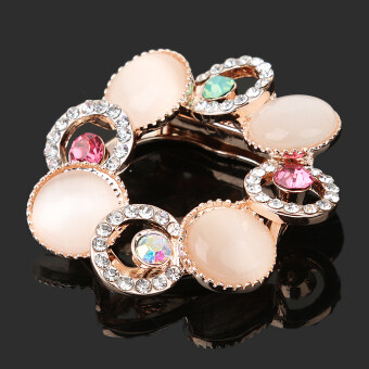 Harga MagiDeal Gold Plated Jewelry Crystal Pearl Buckle Clip Brooch