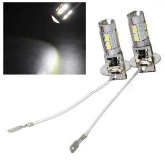 Harga Auto H3 LED Bulbs 10-SMD5630 White Driving Fog Lights High Beam EP98