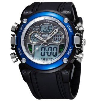 Harga AOXINDA Ohsen Water-proof Dual Time Boys Girls Sport Watch - Blue
