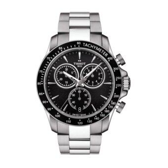 Harga Tissot T106.417.11.051.00 T-Sport V8 Chronograph Tachymeter Men's Watch(Silver)