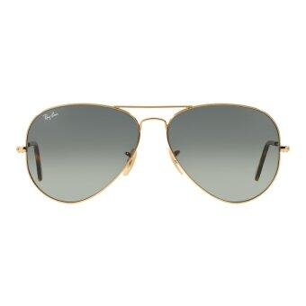 Harga Ray-Ban Aviator Gradient Dark Grey Lenses RB3025 181/71 Gold Sunglasses [58]