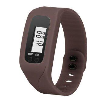 Harga Coconie Digital LCD Pedometer Run Step Walking Distance Calorie Counter Watch Bracelet Coffee