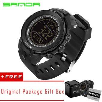 Harga SANDA 2016 New Luminous Waterproof Run Men's Fashion Digital watch