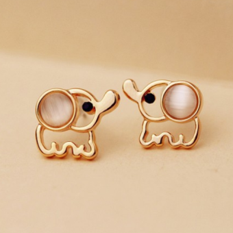 Harga ONLY 24k Gold Plated Thailand Elephant Earrings