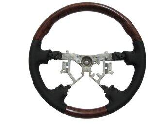 Harga CrazyTheGod LAND CRUISER PRADO 120 2003-2009 STEERING WHEEL OE WALNUT WOOD BLACK Leather for TOYOTA