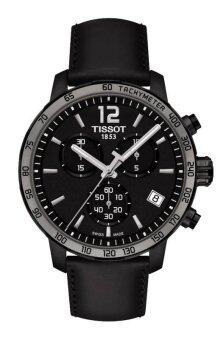 Harga Tissot Quickster Chronograph Black Dial Mens Watch T0954173605702