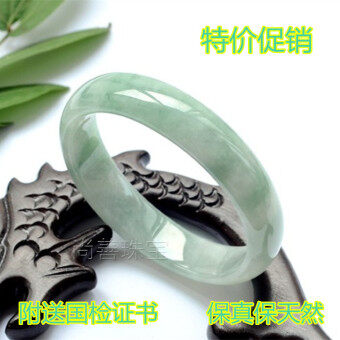 Harga Special Offer Authentic Natural Jade Green Flowers Floating Jade Bracelet Female Emerald Jade Jade Bracelets with LeBron Certificate