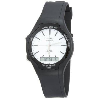 Harga Casio Men Ana-Digi White Dial Resin Watch AW-90H-7EVDF