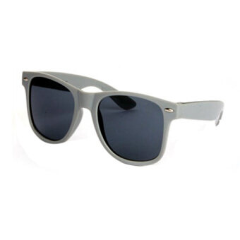 Harga Sunglasses Uv400 Vintage Mens Womens Unisex Eye Wear Dark Grey Frame&Black Lens