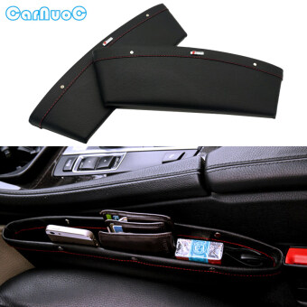 Harga 2pc Black Coming Leather PU Car Storage Organizer Car Bag Box Auto Seat Gap Slit Pocket Holder For Audi A3 A4 B5 B6 B7 B8 A6 Q C