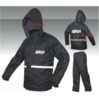 Harga High Quality Givi Raincoat Jacket Waterproof Canvas Pants and Sling Bag (Black Red)