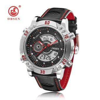 Harga Original OHSEN Military Watches Men Sports Full Steel Quartz Watch Luxury Brand Waterproofed Diver Diving Watch