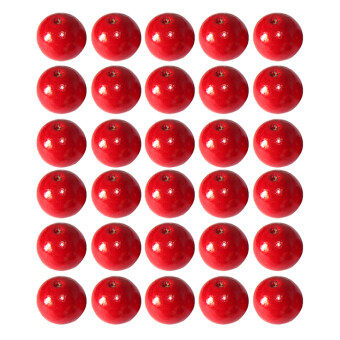 Harga BolehDeals 50Pcs 14mm Red Round Wooden Beads DIY Jewelry Making Necklace Craft Findings