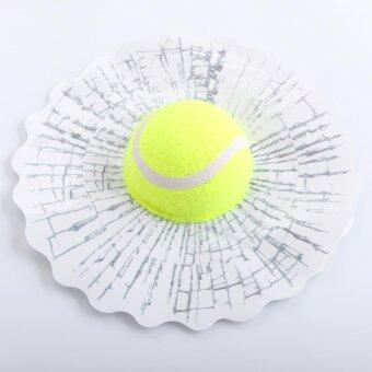 Harga Car 3D simulatio Tennis Ball Hits Broken Window Sticker Body Glass Decal Crack