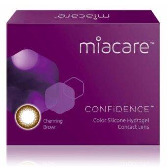 Harga Miacare CONFIDENCE Monthly Charming Brown Color Contact Lens (-10.00)
