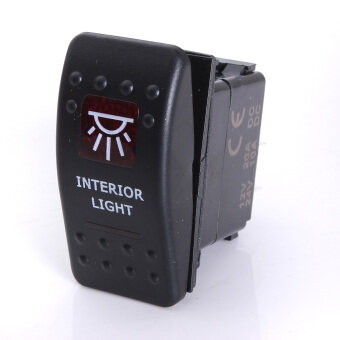 Harga ROCKER SWITCH NARVA ARB CARLING STYLE LED ILLUMINATED ON-OFF INTERIOR LIGHT RED (Intl) Audew