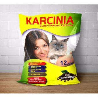 Harga KARCINIA COFFEE SCENTED SUPER CAT LITTER (12L)