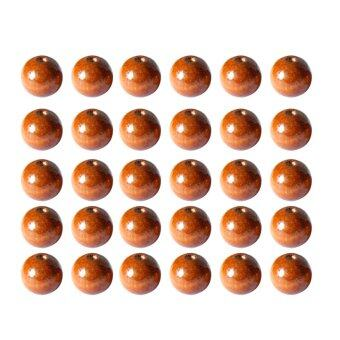 Harga BolehDeals 50Pcs 20mm Light Coffee Round Wooden Beads DIY Jewelry Necklace Craft Making