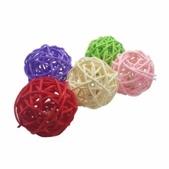Harga 5pcs Cats , Dogs Twig Ball & Bell Assorted