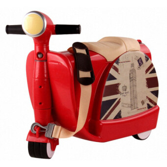 Harga Kid's 2in1 Toys Luggage/Storage Box/Riding Toys- Lightweight & Ideal For Kids (Red)