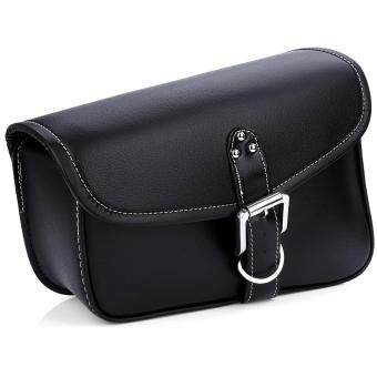 Harga Motorcycle PU Leather Saddlebag Saddle Tool Pouch Side Bag Harley Cruiser Storage Pouch(BLACK)(Size:LEFT)(...)