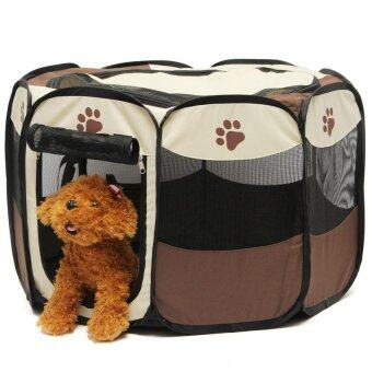 Harga Pet Home Fence Dog Bed Kennel Play Pen Puppy Soft Playpen Exercise Run Cage Folding Crate