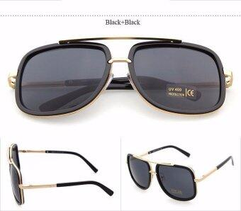 Harga Flat Top Designed Square Sunglass Luxury Brand Couple Lady Celebrity Brad Pitt Sun Glasses Super Star Eyewear for Ladies and Gentleman