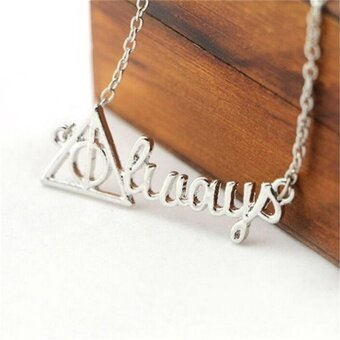 Harga Harry Potter Death Hollow Always Pendant Chain Necklace Men Women Jewelry Gifts