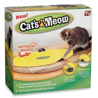 Harga Cats Meow Yellow Undercover Fabric Moving Mouse Cat Play Cat's Toy As Seen on Tv