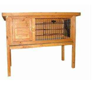 Harga New Skiidii Rabbit Guinea Pig Cage Hutch Run & Wire Door