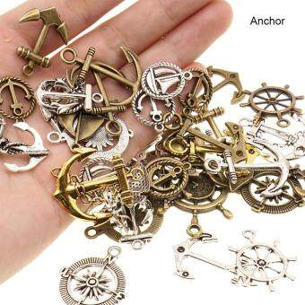 Harga High Quality Store New 100g Vintage Metal Mixed Anchor Rudder Love Heart Charms Pendant Sets for DIY Jewelry Anchor
