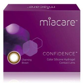 Harga Miacare CONFIDENCE Monthly Charming Brown Color Contact Lens (-3.50)