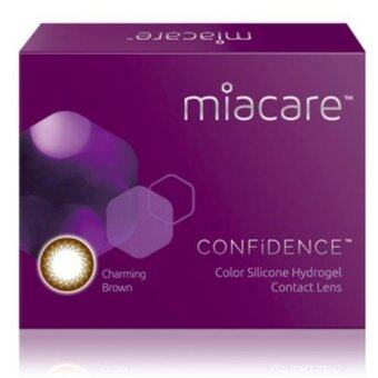 Harga Miacare CONFIDENCE Monthly Mystic Black Color Contact Lens (-2.25)
