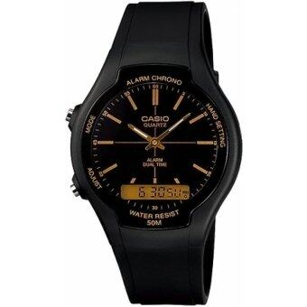 Harga Casio Men Ana-Digi Black Dial Resin Watch AW-90H-9EVDF