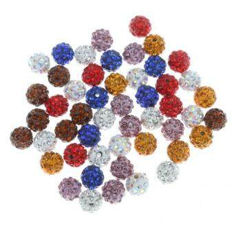 Harga MagiDeal 100x Rhinestone Shamballa Crystal Spacer Beads DIY Bracelet Craft Jewelry Making