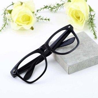 Harga fancy dress Fashion Unisex Men Lady Geek Fancy Dress Eye Glasses Square Big Frame 12 Colors [NF]