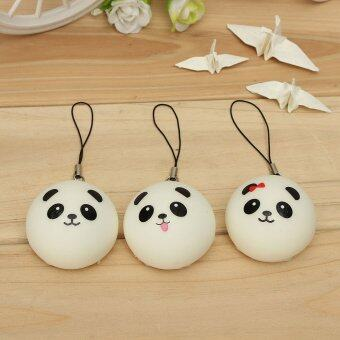 Harga 1PCS Soft Cute Panda Squishy Kawaii Buns Bread Charms Cell Phone Bag Key Strap