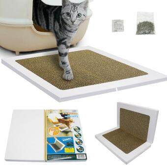 Harga Foldable Cat Scratcher Mat With Catnip Cat Kitten Corrugated Scratch Board Pad Toy
