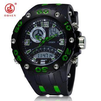 Harga OHSEN Men Outdoor Sports Watches Waterproof Fashion Casual Quartz Watch LCD Digital & Analog Military Multifunctional Wristwatch