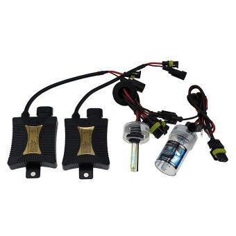 Harga H7 55W 4300K 12V Xenon HID Kit Car Headlight Slim Ballast Xenon Bulb Warm White light